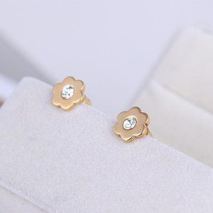 Michael Kors Gold-Plated Mini Flower Stud Earrings
